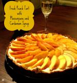 Peach Tart with Mascarpone and Cardamom