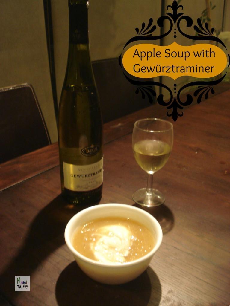Polish Apple soup with Gewurztramine