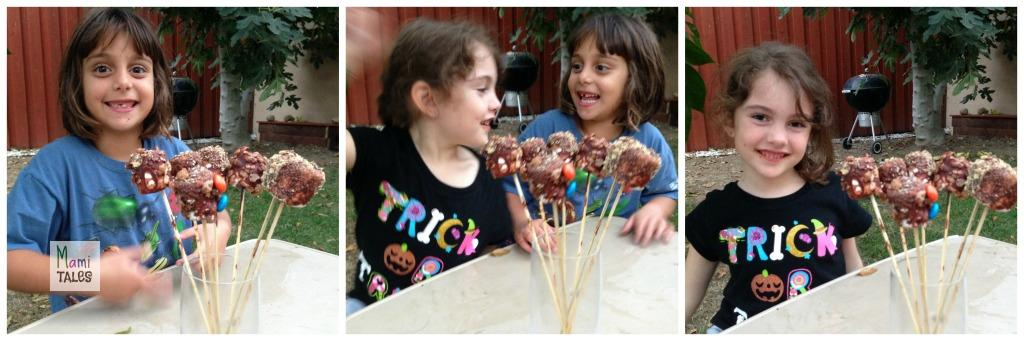 Two very happy, and chocolate covered, little girls