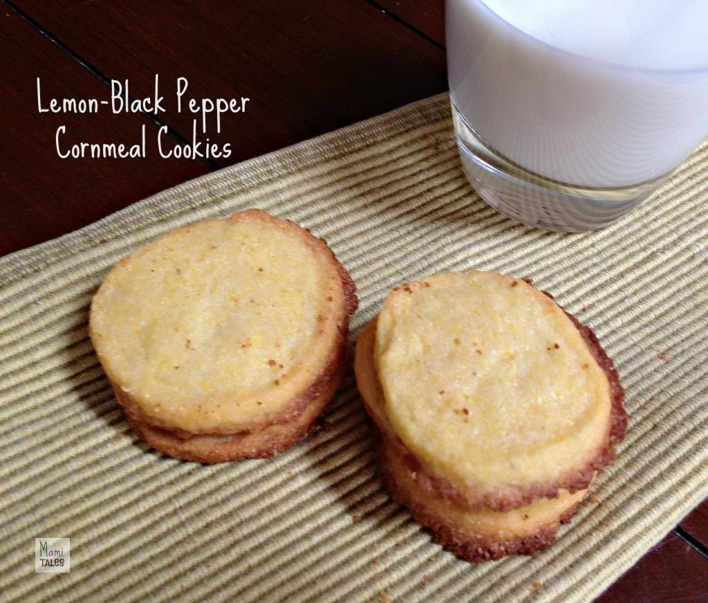 Lemon Black Pepper Cornmeal Cookies - Mami Tales